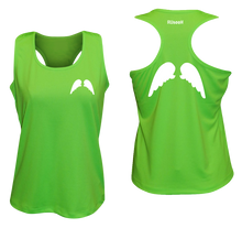 Load image into Gallery viewer, ruseen running Womens wings reflective performance tee neon green