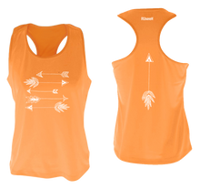Load image into Gallery viewer, ruseen running arrows women's performance tank orange