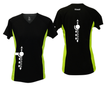 Load image into Gallery viewer, ruseen running Women's Paths performance reflective tee black & lime