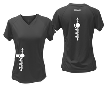 Load image into Gallery viewer, ruseen running Women's Paths performance reflective tee black