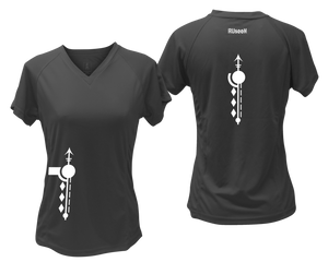 ruseen running Women's Paths performance reflective tee black
