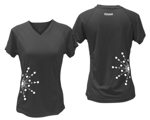 ruseen running Women's reflective performance tee Directions black