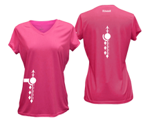 Load image into Gallery viewer, ruseen running Women's Paths performance reflective tee neon pink