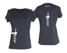 Load image into Gallery viewer, ruseen running Women's Paths performance reflective tee purple heather