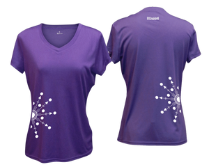 ruseen running Women's reflective performance tee Directions purple