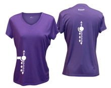 Load image into Gallery viewer, ruseen running Women's Paths performance reflective tee purple