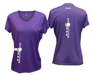 ruseen running Women's Paths performance reflective tee purple