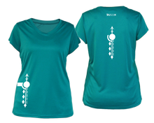 Load image into Gallery viewer, Women's Paths performance reflective tee teal