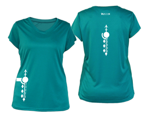 Women's Paths performance reflective tee teal
