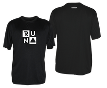 Load image into Gallery viewer, ruseen running mens reflective performance tee black
