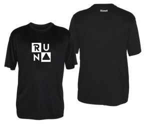 ruseen running mens reflective performance tee black