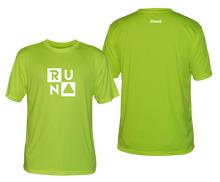 Load image into Gallery viewer, ruseen running shop mens running tee with run squared logo