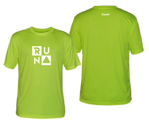 ruseen running shop mens running tee with run squared logo