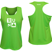 Load image into Gallery viewer, ruseen running Women's performance running tank run squared neon green