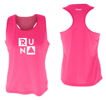 Load image into Gallery viewer, ruseen running Women's performance running tank run squared neon pink