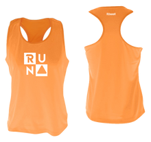 Load image into Gallery viewer, ruseen running Women's performance running tank run squared orange