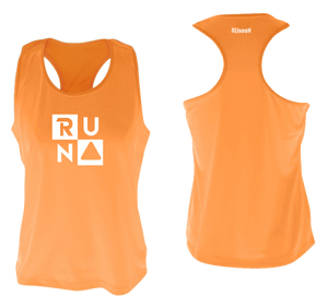 ruseen running Women's performance running tank run squared orange