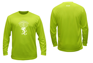 mens long sleeve unique reflective shirt lime green