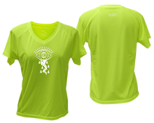 Load image into Gallery viewer, lime fitness tee with v neck