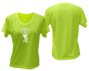 lime fitness tee with v neck