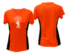 Load image into Gallery viewer, shop unique running shirt with orange and black coloring