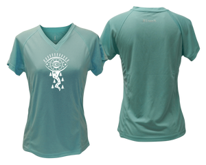 stylish running shirt with reflective logo