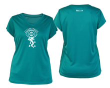 Load image into Gallery viewer, sea green running shirt with short sleeves