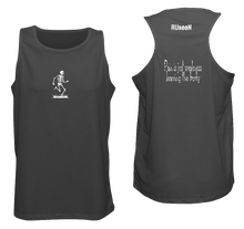 Load image into Gallery viewer, ruseen running pain is weakness mens fitness tank black