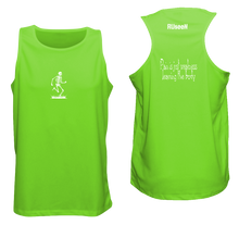 Load image into Gallery viewer, ruseen running pain is weakness mens fitness tank neon green