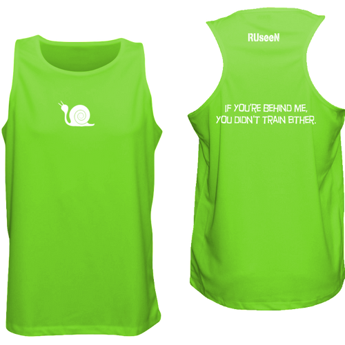 ruseen running men's tank reflective didn't train neon green