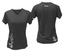 Load image into Gallery viewer, ruseen running Women's run wild reflective performance tee black