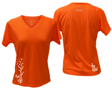 Load image into Gallery viewer, ruseen running Women's run wild reflective performance tee orange