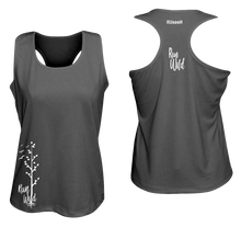Load image into Gallery viewer, womens performance running tank run wild black