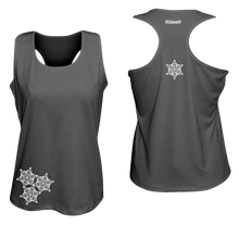 Load image into Gallery viewer, ruseen running womens reflective unique running tank black