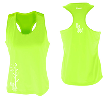 Load image into Gallery viewer, womens performance running tank run wild lime yellow