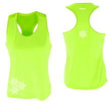 Load image into Gallery viewer, womens reflective unique running tank lime yellow