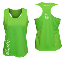Load image into Gallery viewer, womens performance running tank run wild neon green