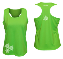 Load image into Gallery viewer, womens reflective unique running tank neon green