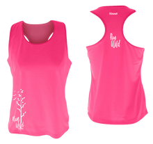 Load image into Gallery viewer, womens performance running tank run wild neon pink