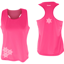 Load image into Gallery viewer, ruseen running womens reflective unique running tank pink