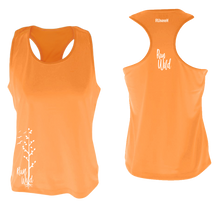 Load image into Gallery viewer, womens performance running tank run wild orange