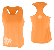 Load image into Gallery viewer, womens reflective unique running tank orange