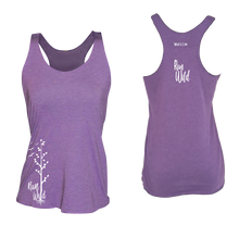 Load image into Gallery viewer, womens performance running tank run wild purple