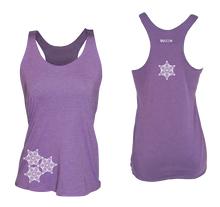 Load image into Gallery viewer, womens reflective unique running tank purple