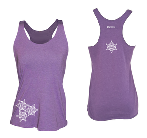 womens reflective unique running tank purple