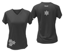 Load image into Gallery viewer, ruseen running women's short sleeve reflective tee black