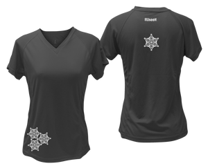 ruseen running women's short sleeve reflective tee black