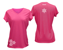 Load image into Gallery viewer, ruseen running women's short sleeve reflective tee pink