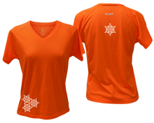 Load image into Gallery viewer, ruseen running women's short sleeve reflective tee orange
