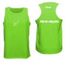 Load image into Gallery viewer, ruseen reflective running tank drinker with a running problem neon green